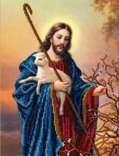 Иисус с ягнёнком. Размер - 19 х 24,7 см.