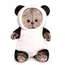 "Басик BABY в комбинезоне ""Панда"", мягкая игрушка Budi Basa"