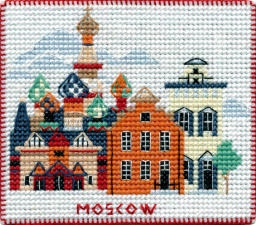 """Набор-магнит для вышивания на пластиковой канве """"Столицы мира.Москва"""""""