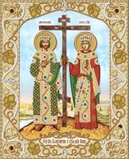 Святые Равноапостольные Константин и Елена. Размер - 26 х 32 см.