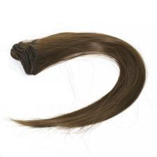 """Трессы для кукол (прямые) """"Элит"""",длина волоса 30 см,цвет тёмно-коричневый"""