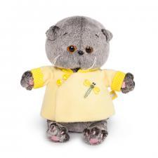 Кот Басик BABY в жёлтой курточке в китайском стиле, мягкая игрушка BudiBasa
