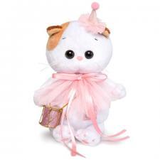 Кошечка Ли-Ли BABY в колпачке с барабаном, мягкая игрушка BudiBasa