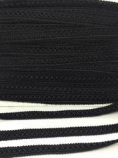 Тесьма Самоса,12 мм,цвет 322 (чёрный)