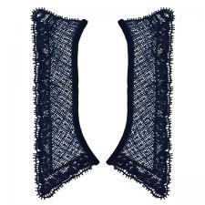Кружевной воротник,26,5х16,5 см,цвет тёмно-синий (058)