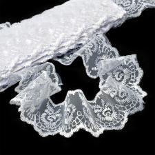 Кружево капроновое,45 мм,цвет белый (001)