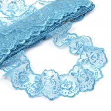 Кружево капроновое,45 мм,цвет голубой (047)