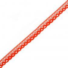Кружево-трикотаж,10 мм,цв.красный (108)