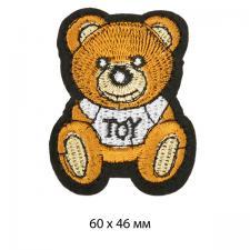 """Термоаппликация """"Миша"""",4,6х6 см,цв.коричневый"""