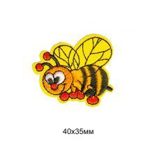 """Термоаппликация """"Пчёлка"""",4х3,5 см,цв.оранжевый"""