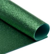 Глиттерный фоамиран (зелёный),20х30 см,толщина 2 мм