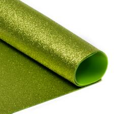 Глиттерный фоамиран (светло-зелёный),20х30 см,толщина 2 мм