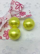 Бусины под жемчуг,20 мм,20 гр (5 бусин),цвет жёлтый (049)
