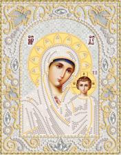 Богородица Казанская (серебро). Размер - 14 х 18 см.