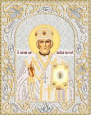 Св.Николай Чудотворец (серебро). Размер - 14 х 18 см.
