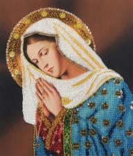 Картины бисером | Молящаяся Дева Мария. Размер - 26 х 30 см.