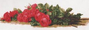 Палитра | Розы на столе. Размер - 59 х 20 см.