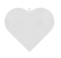 """Пластиковая канва """"Сердце"""". Размер - 17 х 15 см."""
