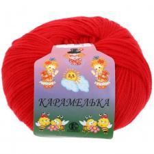 Пряжа Карамелька. Цвет 046 (красный)