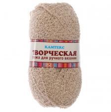 """Пряжа """"Творческая"""" 100% хлопок 270 м/100 г (007 лён)"""