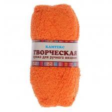 """Пряжа """"Творческая"""" 100% хлопок 270 м/100 г (035 оранжевый)"""