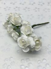 Букетик роз бумажный,цв.белый,12 шт