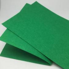 Фетр листовой жёсткий 2 мм,20х30 см,цвет зелёный (049)