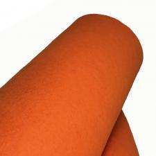 Фетр в рулоне жёсткий,1 мм,шир.100 см,цвет (Н-021,оранжевый)