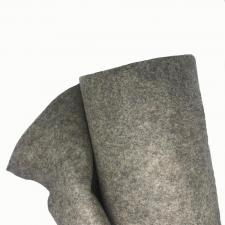 Фетр в рулоне жёсткий,1 мм,шир.100 см,цвет (Н-100,тёмно-серый)