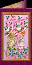 """Набор-открытка для вышивки бисером """"С днем рождения-2"""""""