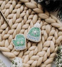 """Набор для вышивки бисером украшения на натуральном художественном холсте """"Зимушка-зима"""""""
