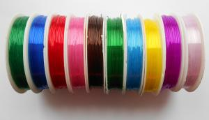 Нить-резинка силиконовая круглая,цвет ассорти,10 катушек,d=0,8 мм