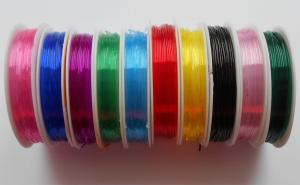 Нить-резинка силиконовая круглая,цвет ассорти,10 катушек,d=1,0 мм