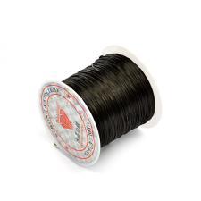 Резинка эластичная латексная,цвет чёрный,d=1,0 мм,длина 10 м