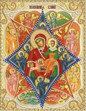 """Икона Божией Матери """"Неопалимая Купина"""". Размер - 18 х 21 см."""