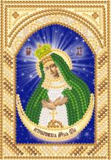 Богородица Остробрамская. Размер - 7,5 х 10,5 см.