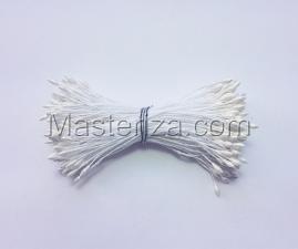 Тычинки тонкие,2 мм,100 шт,цв.белый