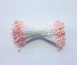 Тычинки тонкие,2 мм,200 шт,цв.персик