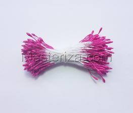 Тычинки тонкие,2 мм,200 шт,цв.розовый