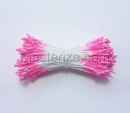 Тычинки тонкие,2 мм,200 шт,цв.кислотно-розовый
