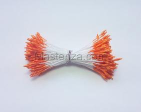 Тычинки тонкие,2 мм,100 шт,цв.оранжевый