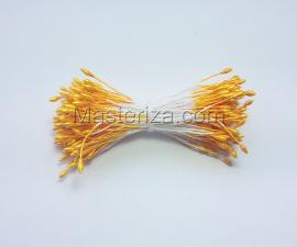 Тычинки тонкие,2 мм,100 шт,цв.жёлтый