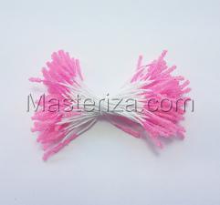 Тычинки сахарные,2 мм,100 шт,цв.розовый