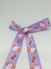 """Лента репсовая с рисунком """"Hello Kitty"""" (на сиреневом фоне),25 мм"""