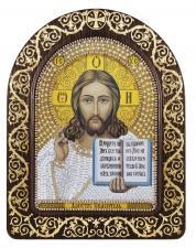 """Набор для вышивания бисером иконы в рамке-киоте """"Христос Спаситель"""""""