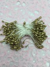 Тычинки, цвет (золотой). Размер - 3 мм,250 шт