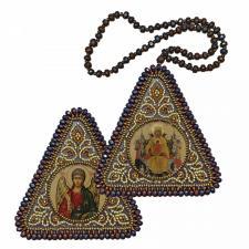 """Набор для вышивания бисером двухсторонней иконы """"Богородица """"Всецарица и Ангел Хранитель"""""""
