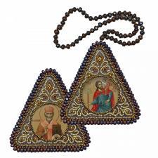 """Набор для вышивания бисером двухсторонней иконы """"Св. Мч. Христофор и Св. Николай Чудотворец"""""""