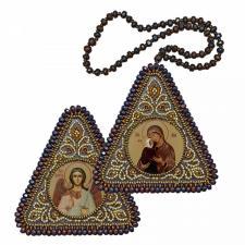 """Набор для вышивания бисером двухсторонней иконы """"Прав. Анна, мать Пресвятой Богородицы и Ангел Хранитель"""""""