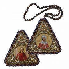 """Набор для вышивания бисером двухсторонней иконы """"Св.Мц. Наталия и Ангел Хранитель"""""""